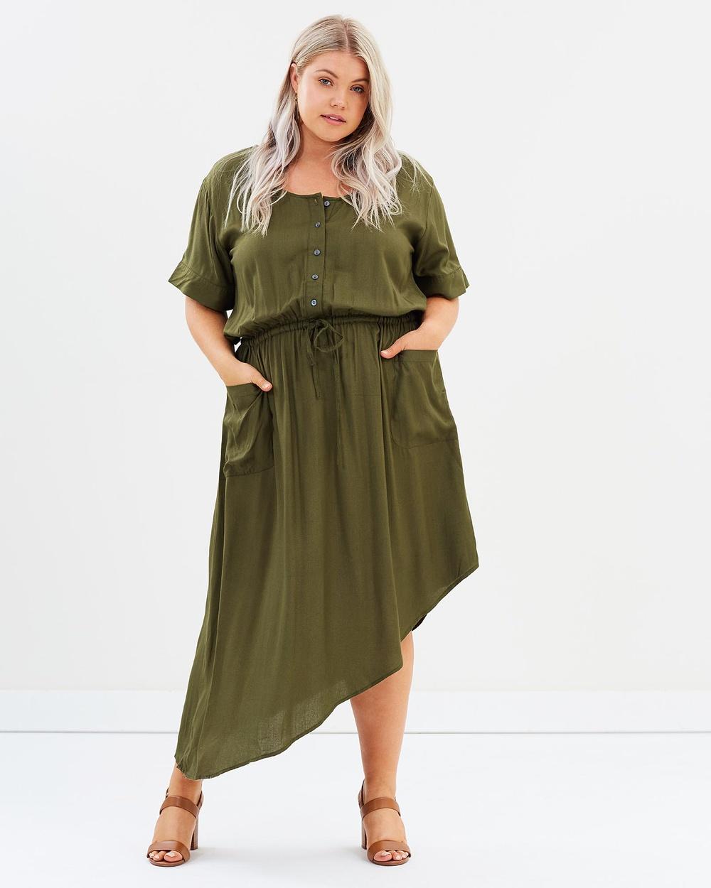 Hope & Harvest Jemima Dress Dresses Khaki Jemima Dress