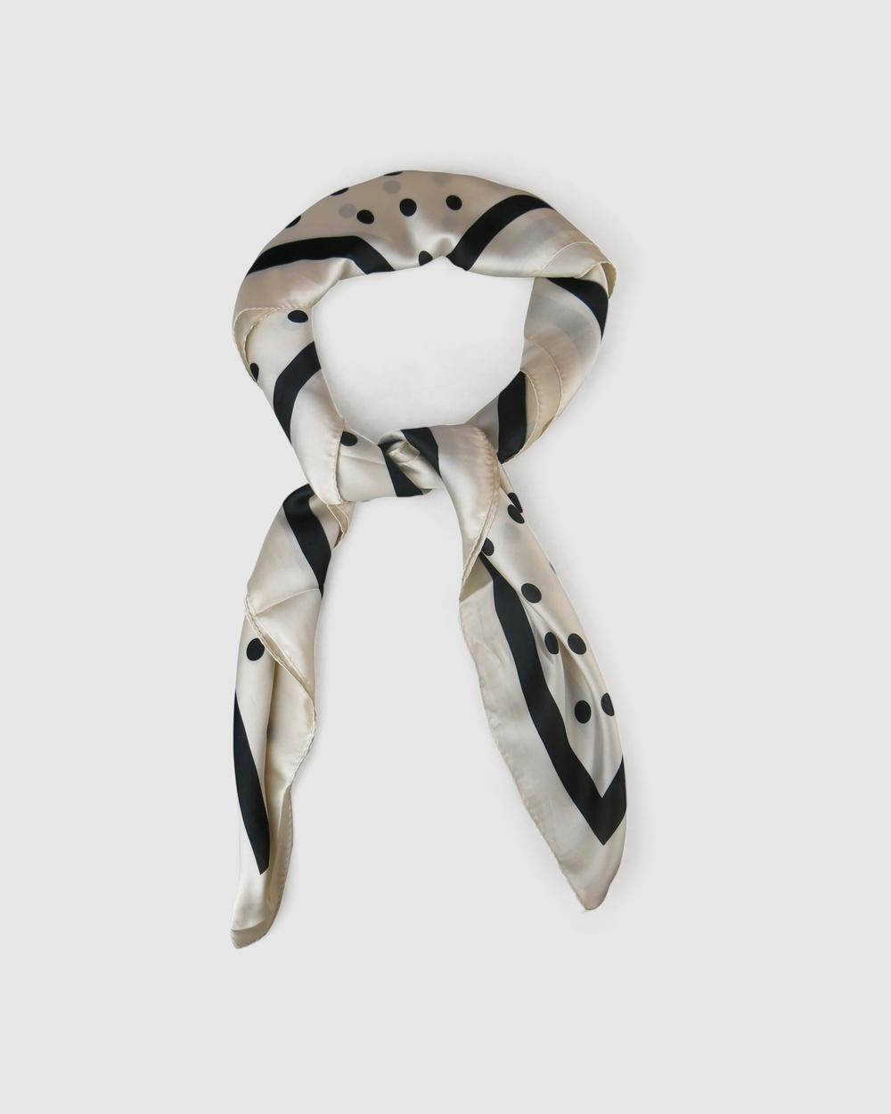 Morgan & Taylor Halsey Scarf Scarves Gloves WHITE