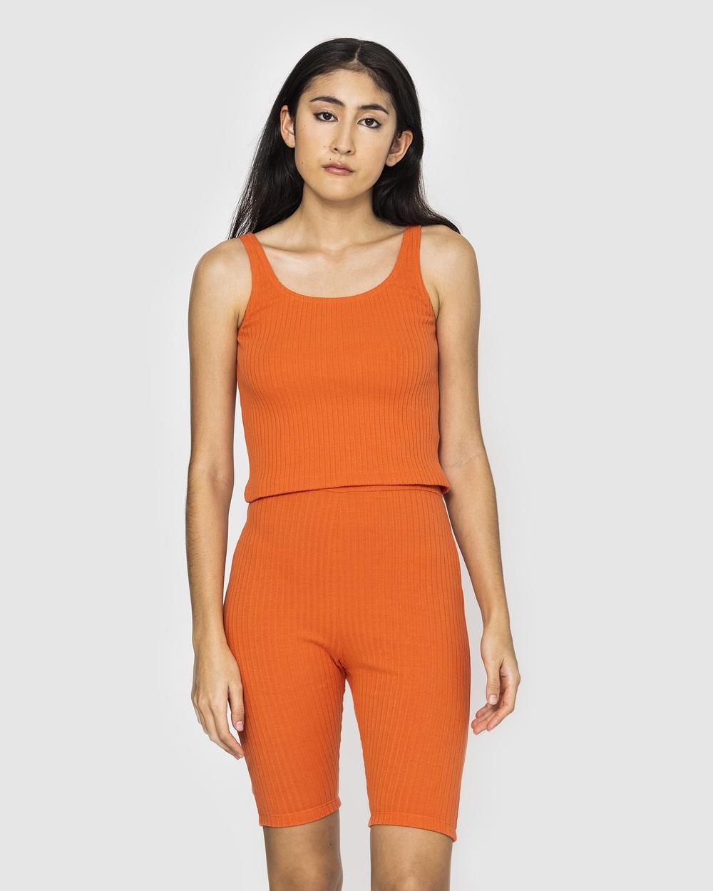 NICO Amber Rib Singlet Rust T-Shirts & Singlets Rust