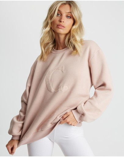 Calli Billie Oversized Sweatshirt Dusty Rose