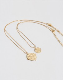 Luv Aj - The Evil Eye Double Coin Necklace