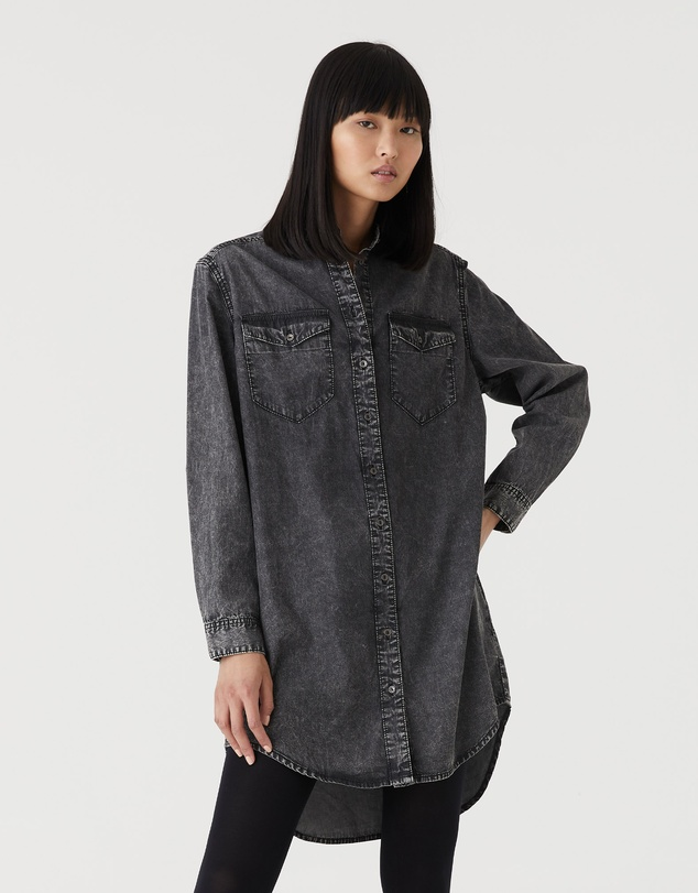Jac & Mooki - Chambray Shirt Dress