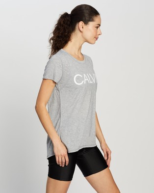 Calvin Klein Performance SS Tee with Inset Shoulder Seam - Short Sleeve T-Shirts (Pearl Grey Heather)