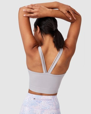 Cotton On Body Active Seamless Double Strap Vestlette - Cropped tops (Quail)