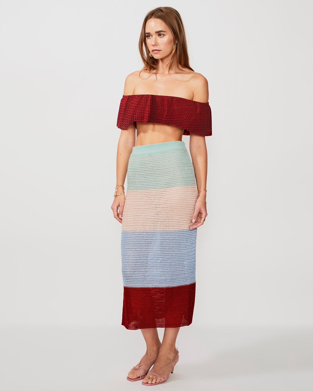 20a9a5ef4 Lucy Knitted Wide Strip Midi Skirt by Suboo Online | THE ICONIC | Australia
