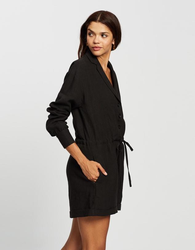 Women Linen LS Playsuit