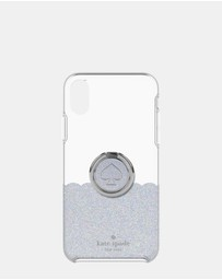 Kate Spade - Gift Set: Ring Stand & Protective Hardshell for iPhone XR