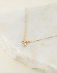 By Charlotte - 14K Gold Love Letter Necklace - S
