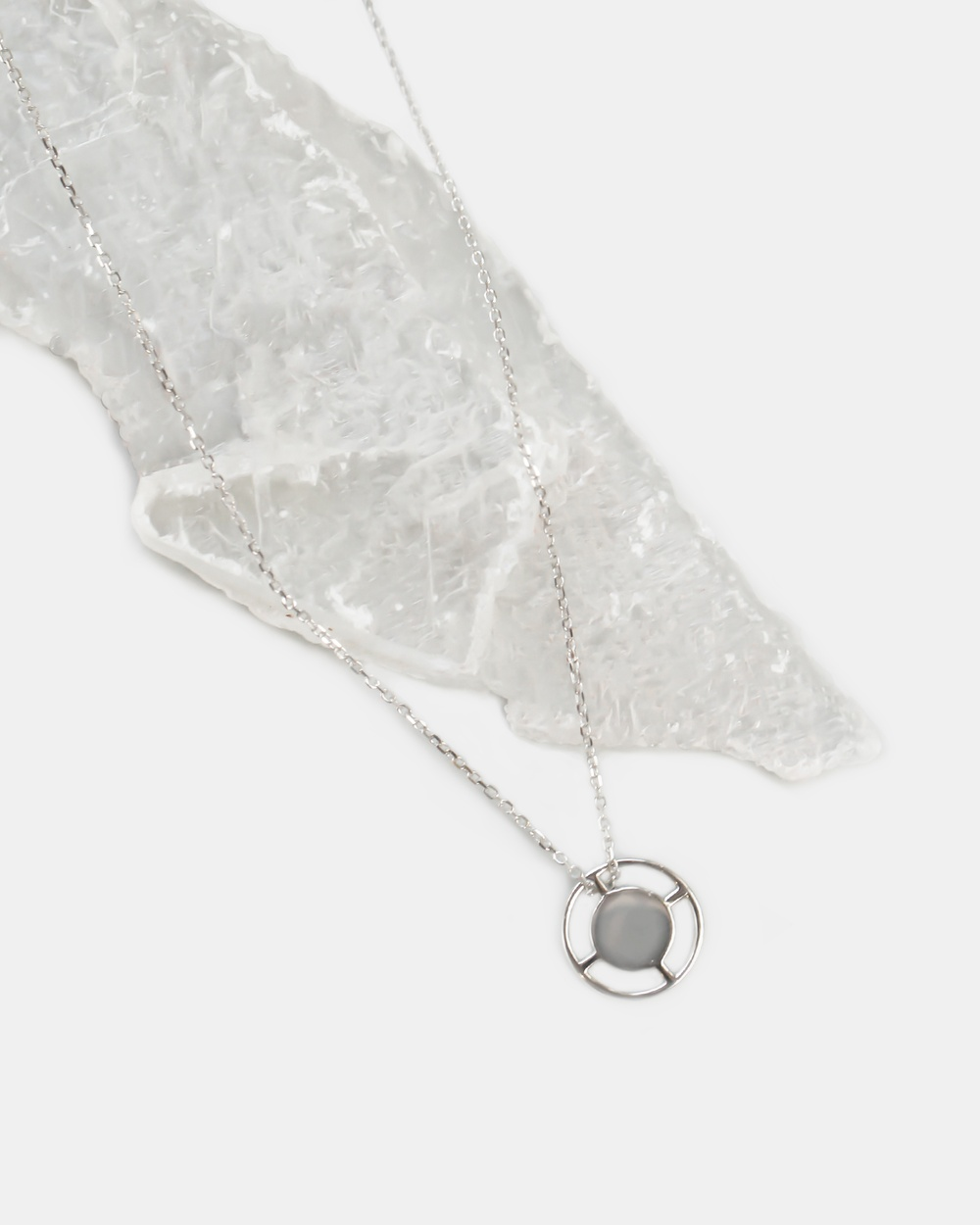 CA Jewellery Compass Pendant Necklace Silver silver