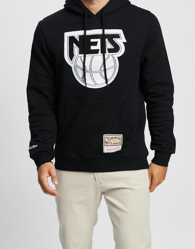 Mitchell & Ness - Wordmark Embroidered Hoodie - NETS