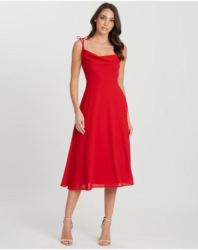Chancery Lucia Midi Dress Red