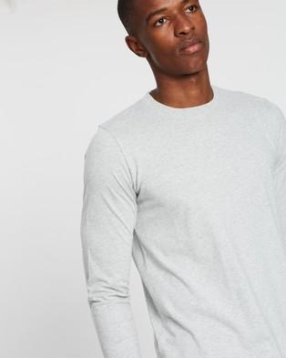 Norse Projects Niels Standard LS Tee - T-Shirts & Singlets (Light Grey Melange)