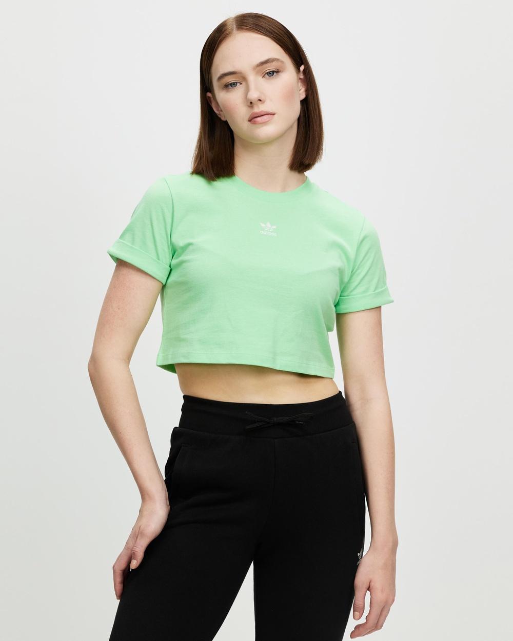 adidas Originals Adicolor Essentials Cropped Tee T-Shirts & Singlets Glory Mint