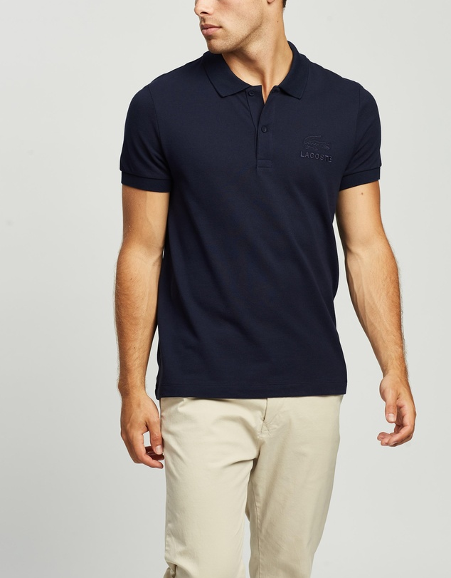 Lacoste - Classic Graphic 2 Ply Regular Fit Polo