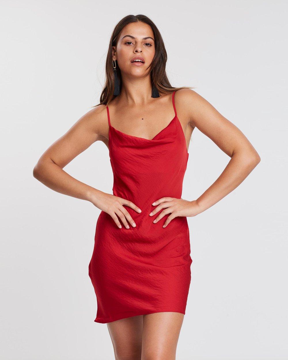 73132e2d8b81f Cowl Mini Slip Dress by Miss Selfridge Online | THE ICONIC | Australia