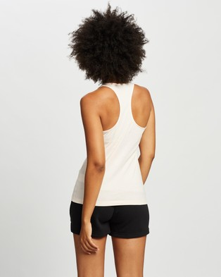 adidas Performance Essentials Linear Slim Tank - Muscle Tops (Pink Tint & White)