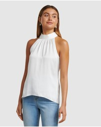 Forever New - Cleo Satin Ruched Neck Cami