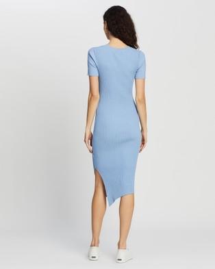Atmos&Here Izabel True Knit Dress - Bodycon Dresses (Cornflower Blue)