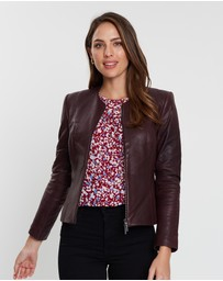 Sportscraft - Merlot Leather Jacket