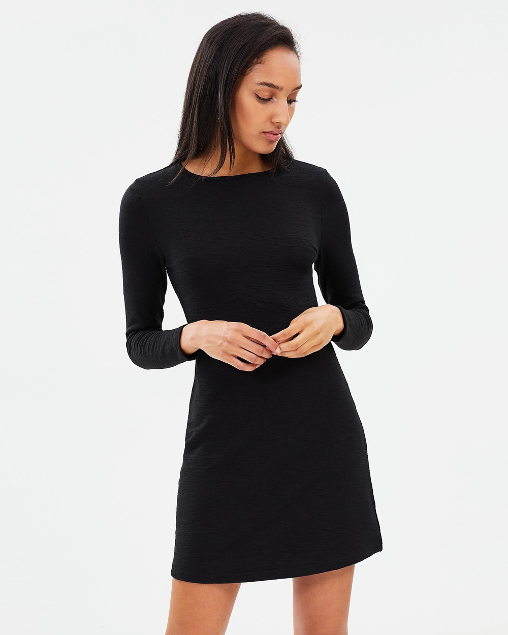 Photo of Atmos & Here Atmos & Here ICONIC EXCLUSIVE Alexa Jersey Shift Dress Dresses Black ICONIC EXCLUSIVE Alexa Jersey Shift Dress - Reach your new season fashion goals with the latest from AtmosandHere. From must-have dresses to classic off-duty tees and denim you'll never want to take off, look to the brand for on-trend pieces in the latest shapes, colours and prints to match any dress code. Our model is wearing a size AU 8. She is 180cm (5'11