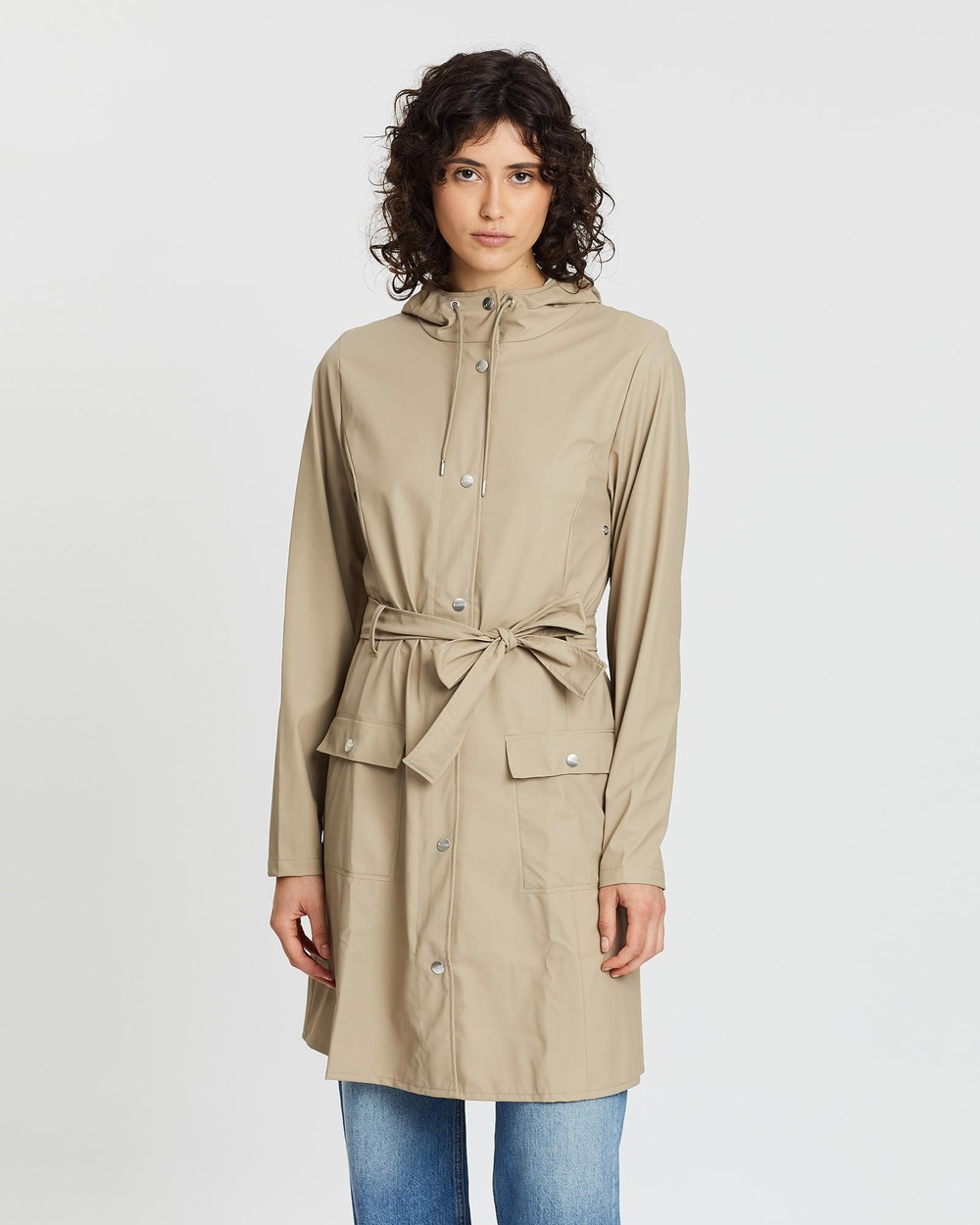 RAINS Curve Jacket Coats & Jackets Beige