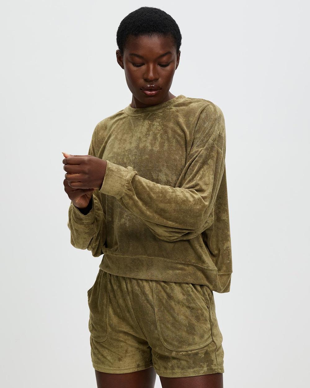 All Fenix Terry Towel Sweater Hoodies Olive