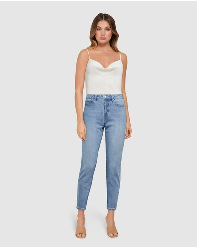 Forever New - Isabel Mid Rise Straight Crop Jeans