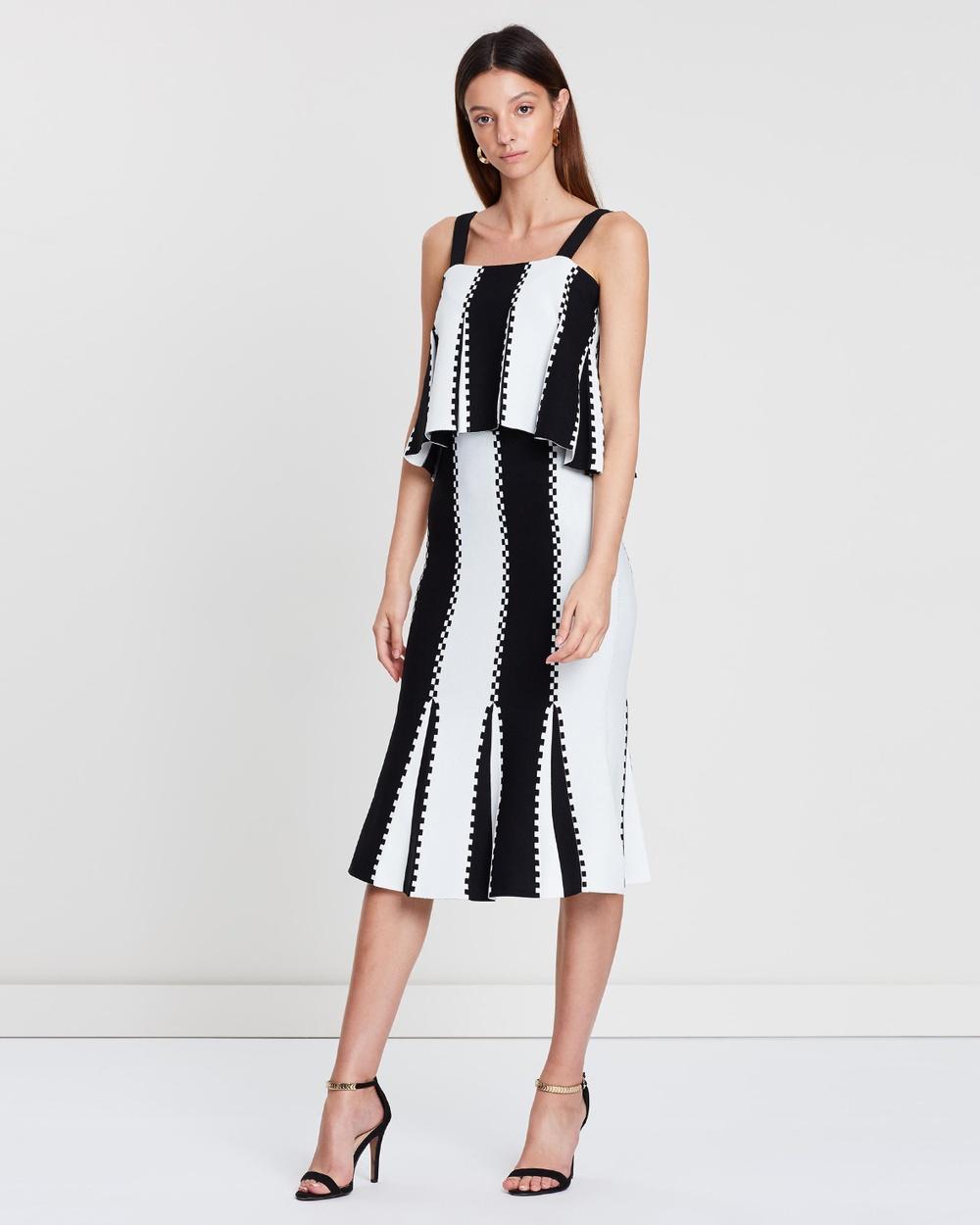 Sass & Bide Black & White Letter From Paris Knit Dress