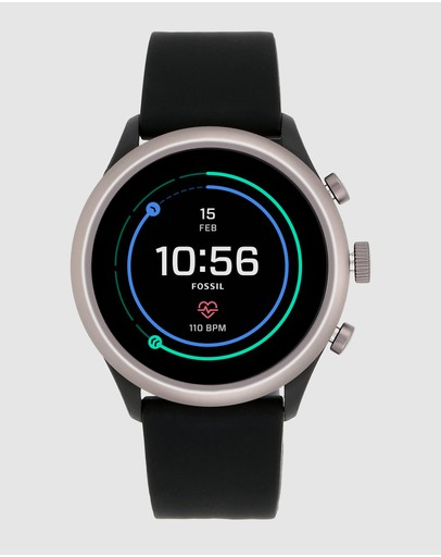 Fossil - Fossil Sport Smartwatch - 43mm Grey Silicone