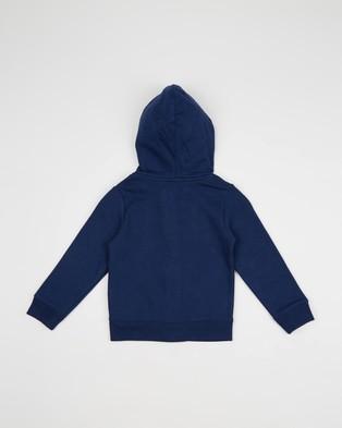 babyGap Logo Hoodie Fleece Sweat   Kids - Hoodies (Elysian Blue)