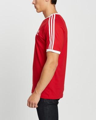 adidas Originals 3 Stripes Tee - T-Shirts & Singlets (Scarlet)
