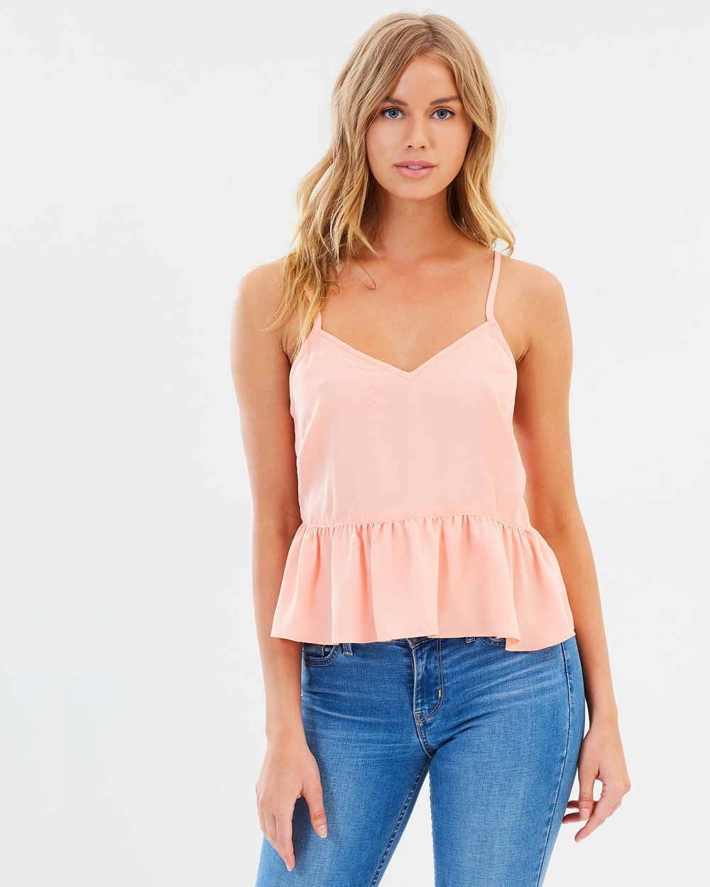 Atmos & Here ICONIC EXCLUSIVE Yvonne Cami Tops Peach ICONIC EXCLUSIVE Yvonne Cami
