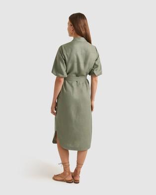 Sportscraft Monty Linen Dress - Dresses (Khaki )