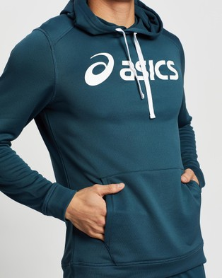 ASICS French Terry Hoodie   Men's - Coats & Jackets (Magnetic Blue)