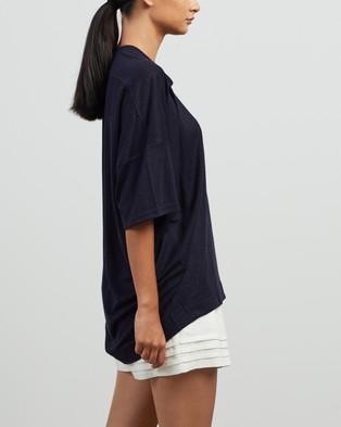 Andrea & Joen Martine Oversized Tee - T-Shirts & Singlets (Navy)