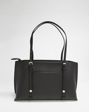 DKNY Bo East West Satchel - Handbags (Black & Gold)