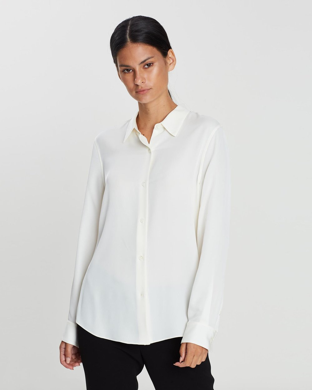 bbe5ad96081bb0 Tenia Georgette Shirt by Theory Online