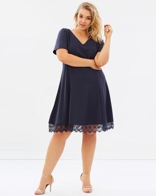 JUNAROSE – Essie SS Above Knee Dress Ombre Blue
