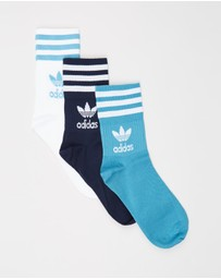 adidas Originals - Mid-Cut Solid Crew Socks 3-Pack