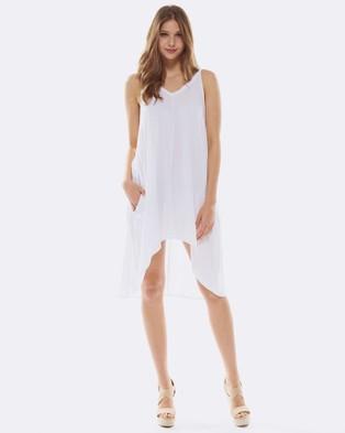 Deshabille – Palm Dress White White