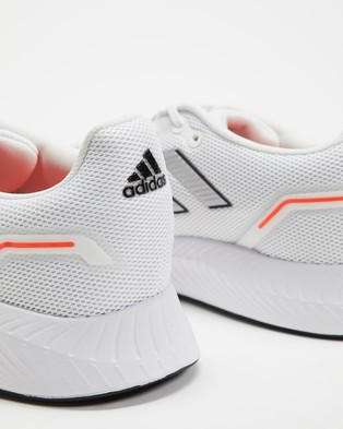 adidas Performance Runfalcon 2.0 - Performance Shoes (Footwear White, Metallic Silver and Solar Red)