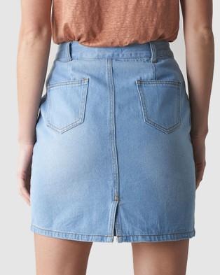 Amelius Cyprus Denim Skirt - Denim skirts (Denim)