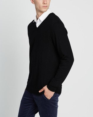 3 Wise Men The Stanley Merino Knit - Jumpers & Cardigans (Black)