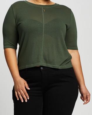 Atmos&Here Curvy Harper T Shirt - T-Shirts & Singlets (Khaki)