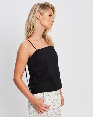 The Fated - Isabel Cami Tops (Black)