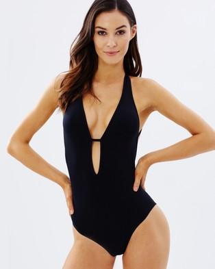 JETS – Jetset Plunge One Piece – One-Piece / Swimsuit (Black)
