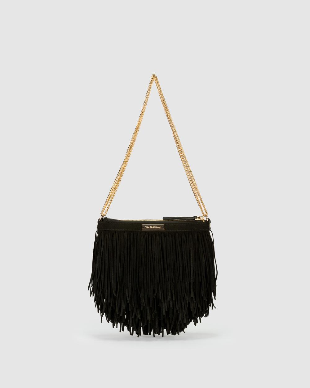 The Wolf Gang Ondara Fringe Bag Handbags Black