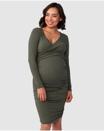 Pea in a Pod Maternity - Bailey Crossover Long Sleeve Nursing Dress