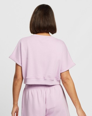 Dazie Chill Out Cropped Sweat Top - Clothing (Lilac)