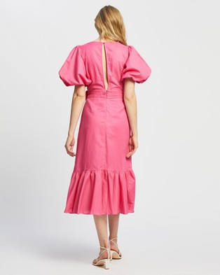 MINKPINK Wrap Frill Dress - Dresses (Hot Pink)